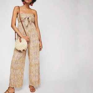 Free People   All In Tie Strapless Jumpsuit